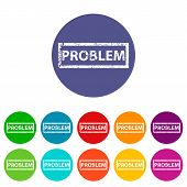 Problem flat icon
