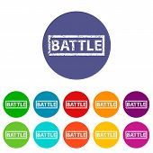 Battle flat icon