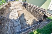 pic of construction  - construction site foundation - JPG