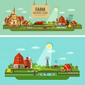 picture of truck farm  - farm outbuildings and orchard - JPG