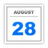 picture of august calendar  - August 28 - JPG