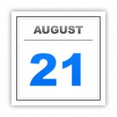 picture of august calendar  - August 21 - JPG