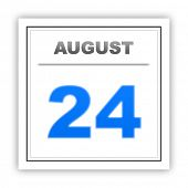 picture of august calendar  - August 24 - JPG