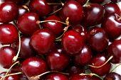 foto of grub  - Close up of fresh ripe cherry berries - JPG