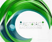 picture of slogan  - Swirl line abstract background - JPG