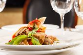 image of crepes  - crepes with chicken and vegetables - JPG