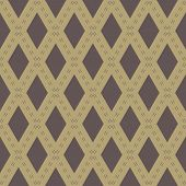picture of diagonal lines  - Geometric fine abstract  pattern with diagonal lines and rhombuses - JPG