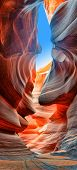 pic of flashing  - Sunlight reflected off of the red rock curves of the Antelope Canyon Slot Canyons in Page - JPG