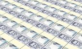 picture of colombian currency  - Colombian pesos bills stacks background - JPG
