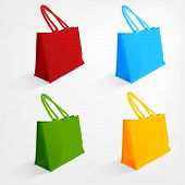 foto of  realistic  - The illustration of  beautiful realistic beach bags - JPG