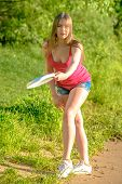image of frisbee  - Frisbee player - JPG