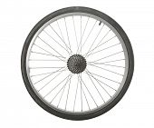 foto of bicycle gear  - Bicycle wheel isolated with transmission gears - JPG