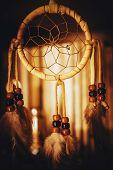 picture of dreamcatcher  - North America Native American Dreamcatcher Closeup Photo - JPG