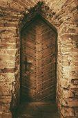 foto of wooden door  - Vintage Wooden Castle Doors - JPG