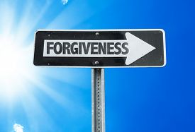 picture of forgiveness  - Forgiveness direction sign with a beautiful day - JPG