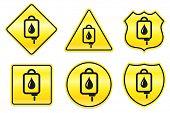 Blood IV Drip Icon on Yellow Designs Original Illustration