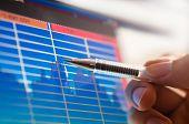business analyze - closeup on lcd screen