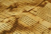 picture of annal  - Ancient and vintage handwritten Bible pages - JPG
