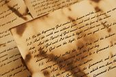 image of annal  - Ancient and vintage handwritten Bible pages - JPG