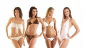 Sexy girls isolated on white