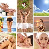 foto of field_stone  - Spa and health collages made of some bright pictures - JPG
