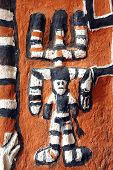 picture of dogon  - A close up of Dogon artwork of a spirit on a Hogon - JPG