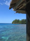 Small Hut On A Tropical Blue Sea, Togians Island, Sulawesi, Indonesia poster