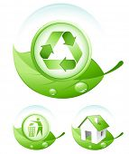 Green concept icons