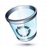 Transparent trash can