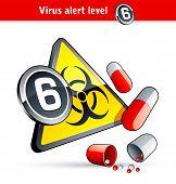 Flu Virus alert number six