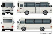stock photo of motor coach  - Vector urban passenger mini - JPG