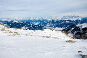 Winter With Ski Slopes Of Kaprun Resort