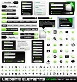 Web design elements extreme collection - frames, bars, 101 icons, bannes, login forms, buttons.
