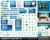Web design elements extreme collection - 3 web templates,frames, bars, 101 icons, bannes, login forms, buttons.