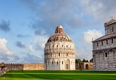 Piazza dei Miracoli (Piazza del Duomo), an important center of European medieval art and famous UNES poster