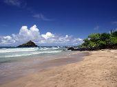 Walking On The Beach In Hana, Maui Island, Hawaii