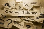 stock photo of debate  - An image of a religion concept - God vs Science debate