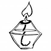 Chemical Burner. Vector Illustration Of An Alcohol Burner. Hand Drawn Chemical Burner, Nozzle. Burne poster