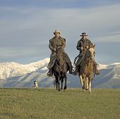 Cowboys Riding The Range