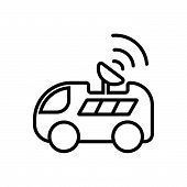 Car With Satellite Icon. Car With Satellite Icon. Car With Satellite Icon. Car With Satellite Icon.  poster