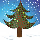 Winter Dotty Christmas Tree