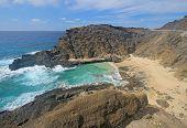 View Of Halona Beach Cove In Hawaii