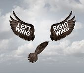 Political Crisis As A Destructive Right Wing And Left Wing Political Problem And Ideology Divided Me poster