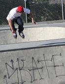 Inline skater at Skate park