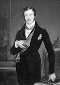 Prince Albert (1819-1861). Engraved by W.Holl and published in Fisher's Drawing Room Scrap Book, United Kingdom, 1849.