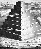 The Tower of Babel. Engraved by Isaac Basire and published in The Works of Flavius Josephus, United