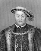 Henry VIII (1491-1547). Engraved by Bocquet and published in the Catalogue of the Royal and Noble Au