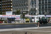 Greek Banners during Demonstrations - June/July 2011