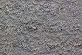 Gray Plastered Handmade Rough Wallpaper.beautiful Decorative Gray Plastered Wall. Rough Texture. poster