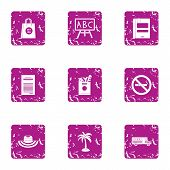 Collect The Journey Icons Set. Grunge Set Of 9 Collect The Journey Vector Icons For Web Isolated On  poster